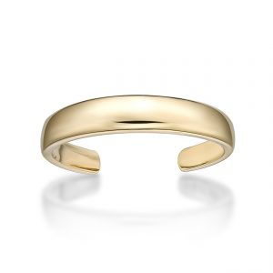 10k Gold Adjustable Open Toe Ring Classic One Size Fits Most Toes 3mm by Lavari Jewelers