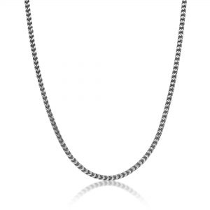 Stainless Steel Thin Foxtail Chain Necklace - 4 MM Wide, 20 Inches Length with Lobster Clasp
