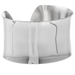 Stainless Steel Shiney Bangle - 37 MM Wide, 2.75 Mmches Length