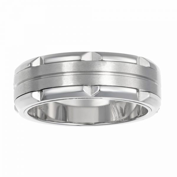 Stainless Steel Minimalist Ring - 8 MM Width - Size 9