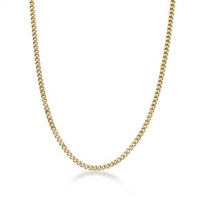 Stainless Steel Gold Ion Plated Thin Foxtail Chain Necklace - 4 MM Wide, 22 Inches Length with Push Lock Lock