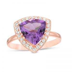 Women's 925 Sterling Pink Silver Ring