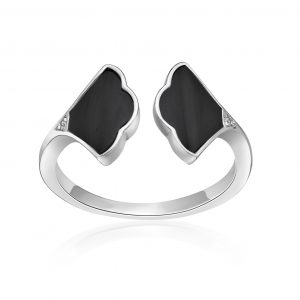 Black Onyx 925 Sterling Silver Ring, Size - 6