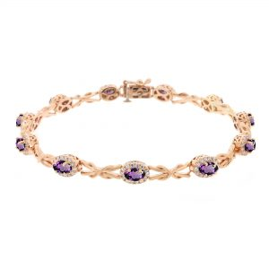 10K Rose Gold Bracelet with - 7.5 Inches