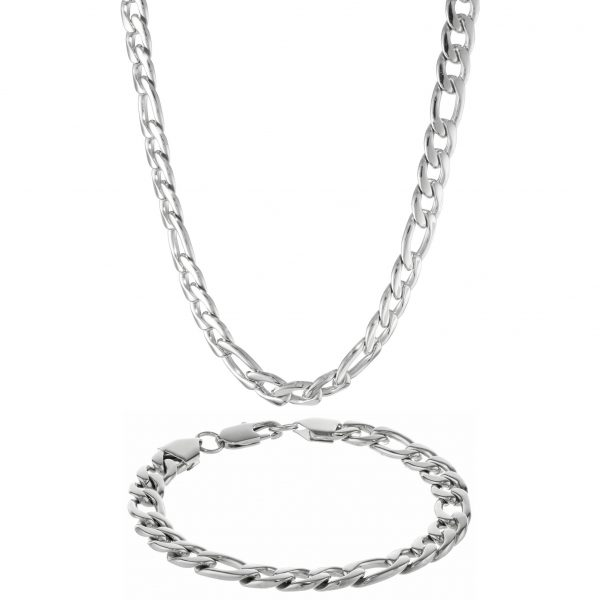 Stainless Steel Thick Circle Boxed Set - 9 MM Wide, 22 Inches Length with Lobster Closure